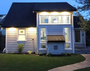 Garden Suite at Night by Thistle Construction Victoria BC