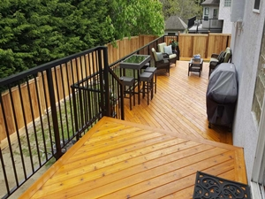 Outdoor deck by Thistle Construction Victoria BC