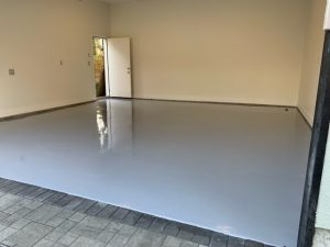 Custom Epoxy Garage floor by West Coast Waterproofing